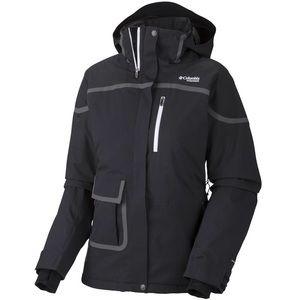 Columbia Titanium Slice n Dice black ski coat